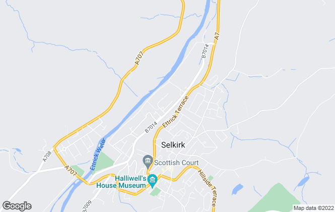 Map for Fine & Country, Selkirk