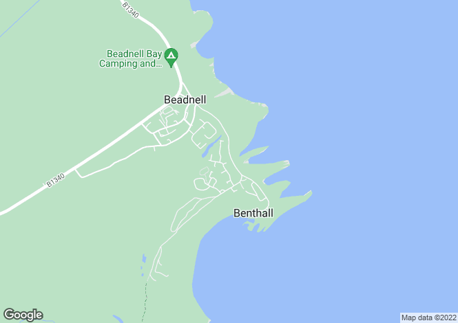 Map for Beadnell, Harbour Road, Driftwood Lodge