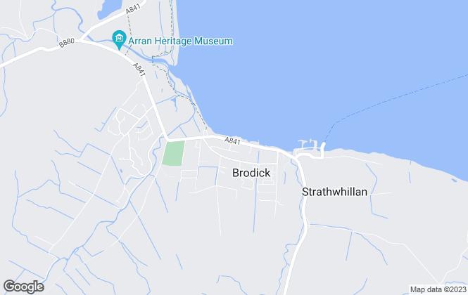 Map for Arran Estate Agents, Arran