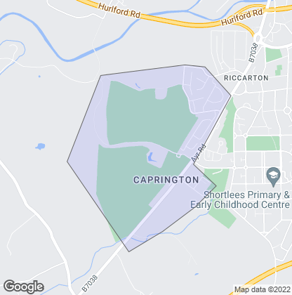 Map of property in Caprington