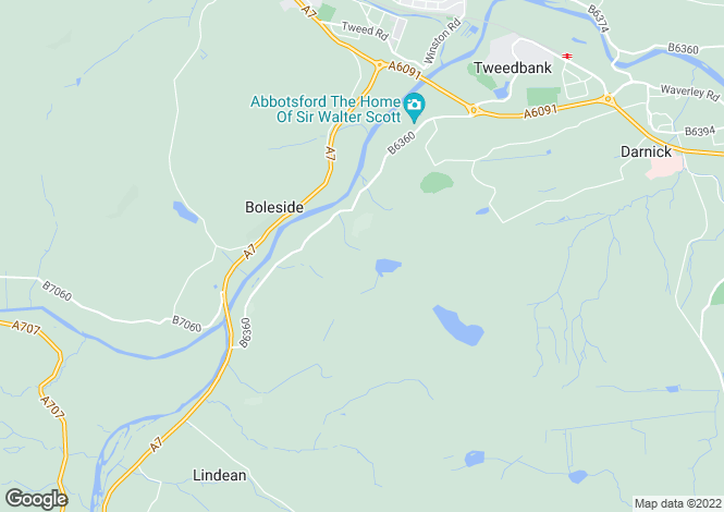 Map for Upper Faldonside, Melrose, Roxburghshire, TD6 9BG