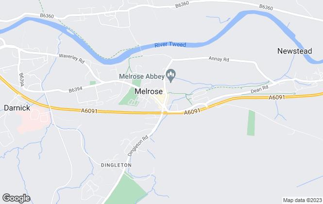 Map for Cullen Kilshaw, Melrose