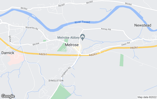 Map for Cullen Kilshaw, Melrose