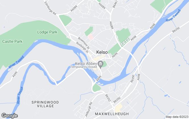 Map for Cullen Kilshaw, Kelso