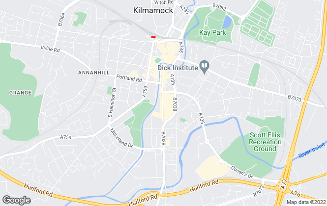 Map for Currie Lettings, Kilmarnock