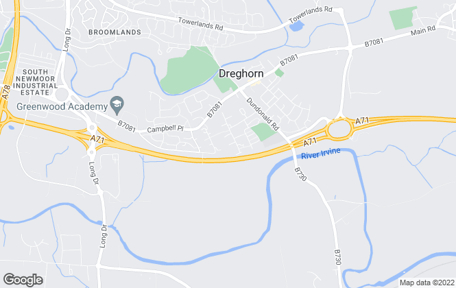 Map for SECURE LETTING (AYRSHIRE), Irvine