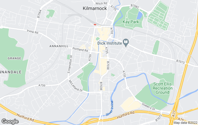 Map for Choice Properties, Kilmarnock