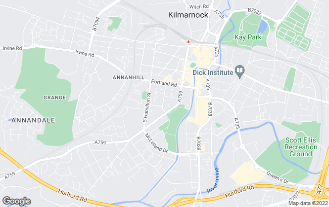 Map for Letts Agree , Kilmarnock