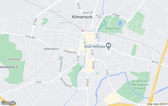 Map for Letts Agree , Kilmarnock