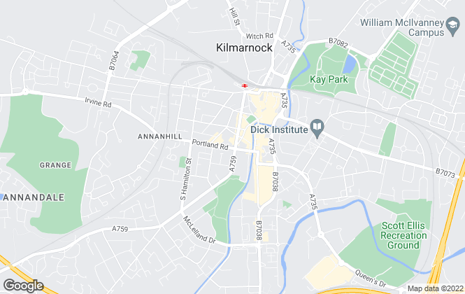 Map for James Guthrie & Company LLP, Kilmarnock