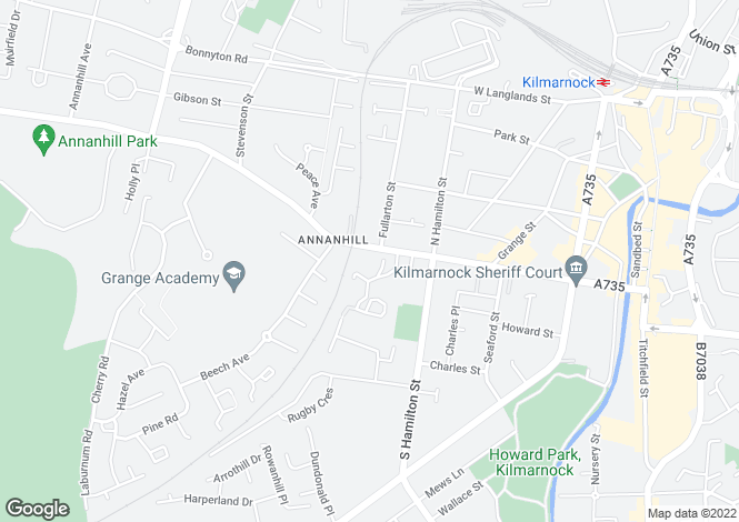 Map for Springhill View, Kilmarnock, East Ayrshire