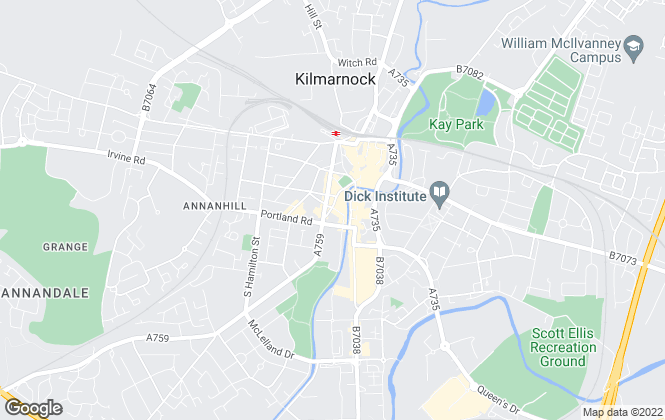 Map for Allen & Harris, Kilmarnock