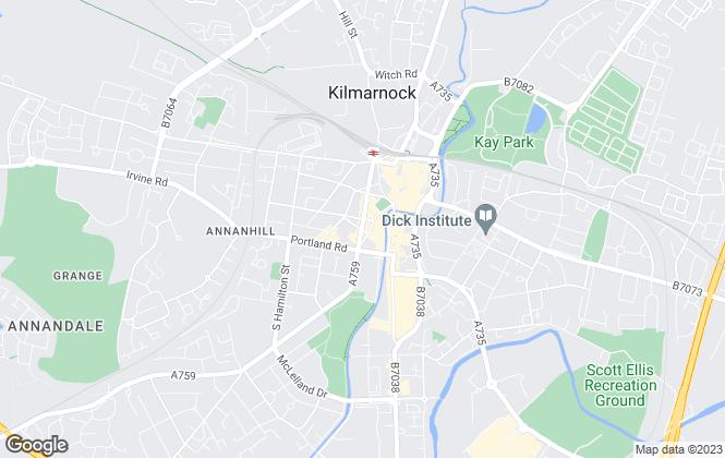 Map for Donald Ross Residential, Kilmarnock