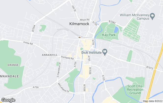 Map for McSherry Halliday, Kilmarnock