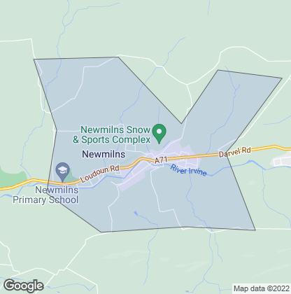 Map of property in Newmilns