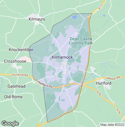 Map of property in Kilmarnock