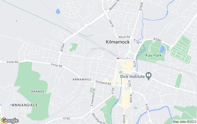 Map for Ardanach Lettings, Kilmarnock