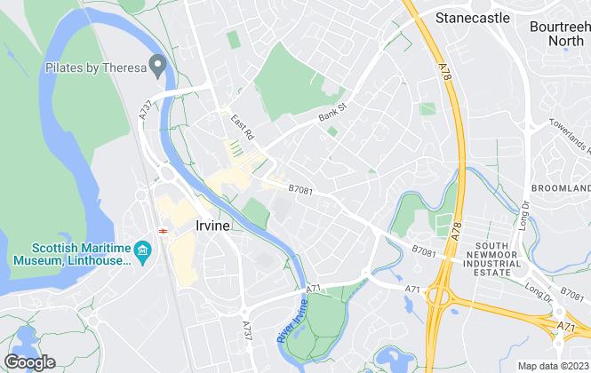Map for Coast Estate Agents , Irvine - Sales
