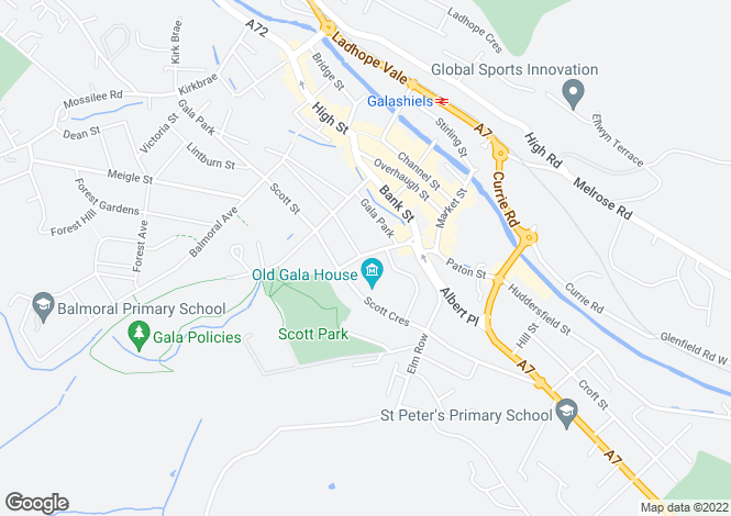 Map for 15 St. John Street, GALASHIELS, Scottish Borders, TD1 3JX