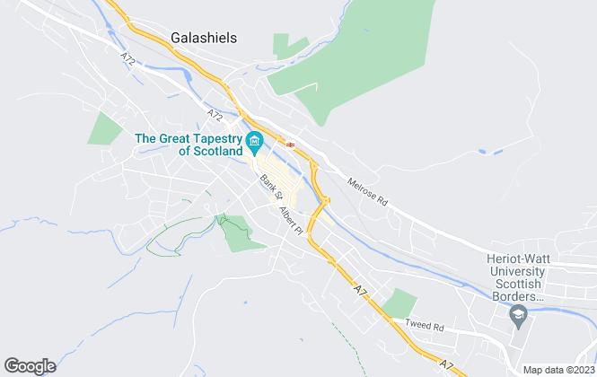Map for Cullen Kilshaw, Galashiels
