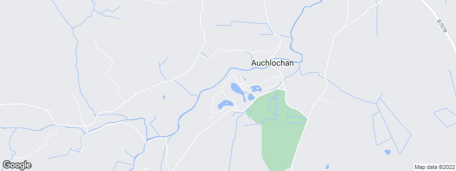 Map for Auchlochan Garden Village