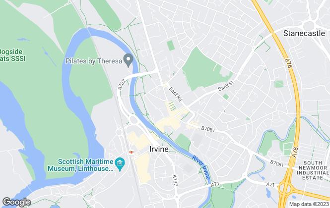 Map for Fast Track Scotland, Irvine