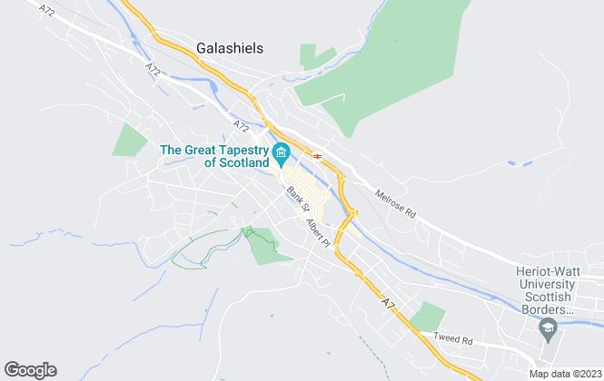 Map for Edwin Thompson, Galashiels