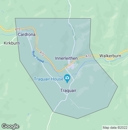 Map of property in Innerleithen