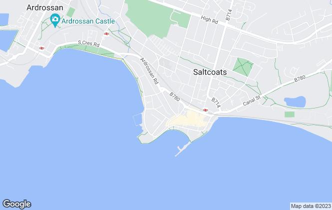 Map for MacKenzie Way, Ayrshire