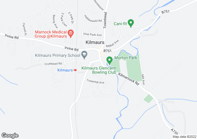 Map for Malcolm's Court, Kilmaurs, East Ayrshire