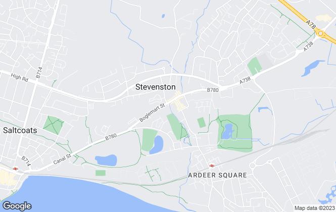 Map for Welcome Homes Ayrshire, Stevenston