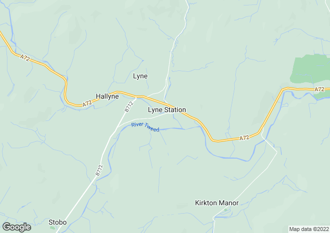 Map for Lyne, Peebles, Scottish Borders