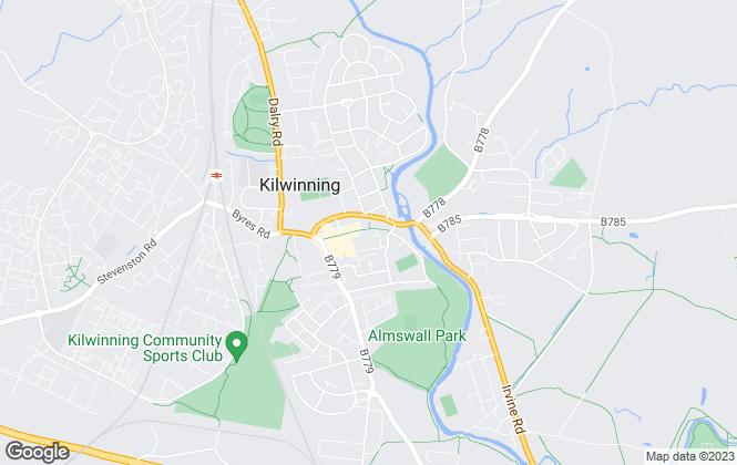 Map for Taylor & Henderson, Kilwinning