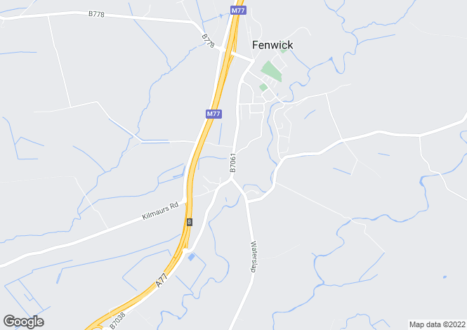 Map for 35 Main Road, Fenwick, Kilmarnock, KA3 6AL