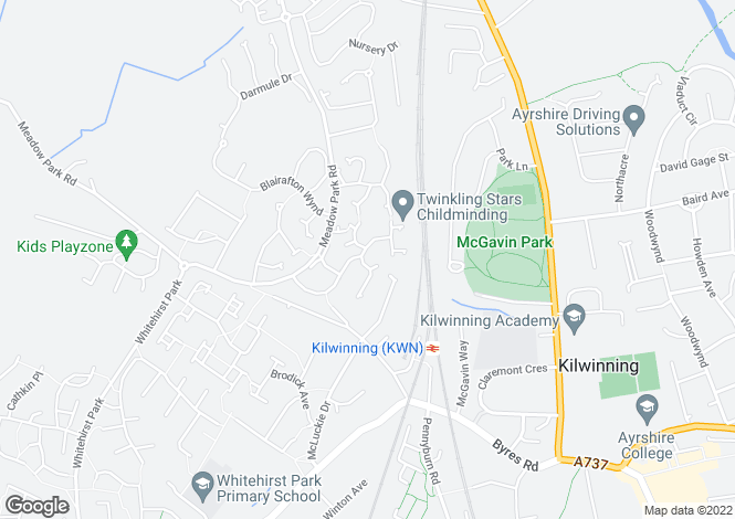 Map for Foundry Wynd, Kilwinning, North Ayrshire