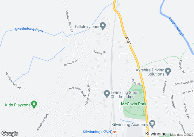 Map for Meadow Way, KILWINNING, North Ayrshire