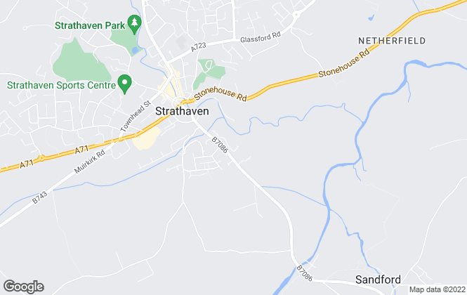 Map for Castle Letting Agency, Strathaven