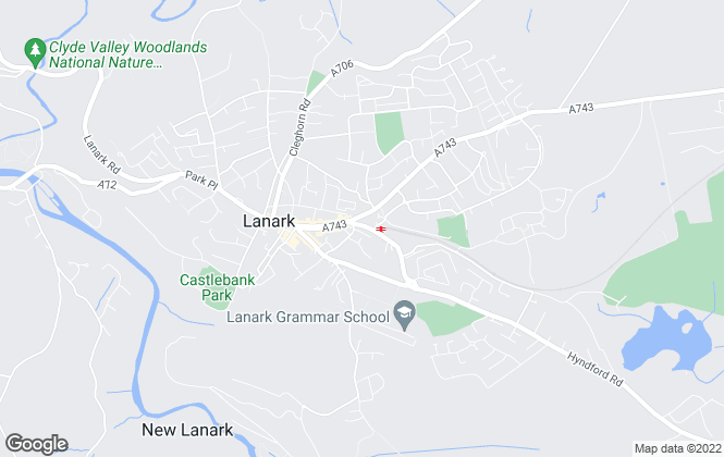 Map for AB Properties, Lanark