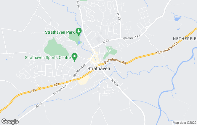 Map for Residence Estate Agents, Strathaven