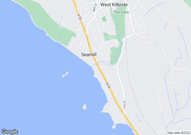 Map for Sandy Cove, 45a Ardrossan Road, Seamill KA23 9NB