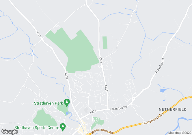 Map for Golf View, Strathaven