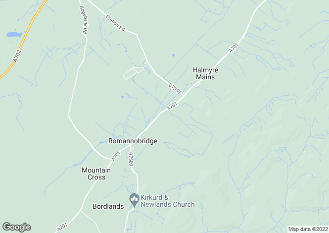 Map for 18 Halmyre Loan, Romanno Bridge, EH46 7DN