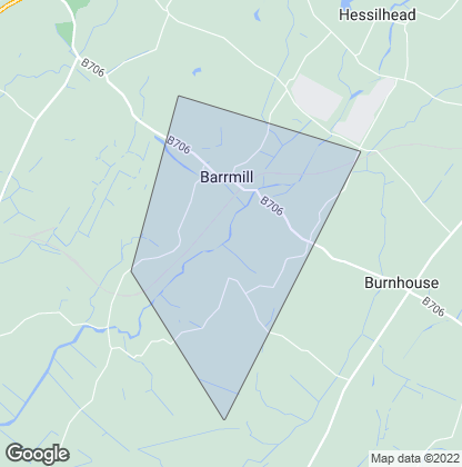 Map of property in Barrmill