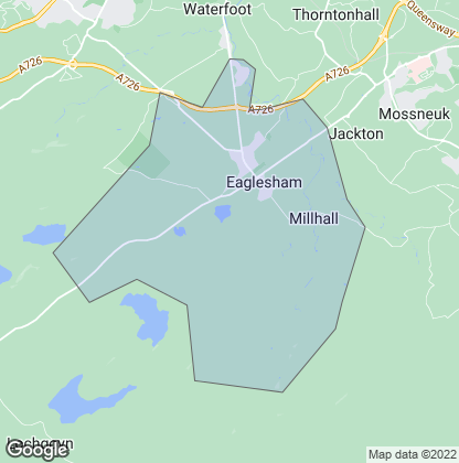 Map of property in Eaglesham