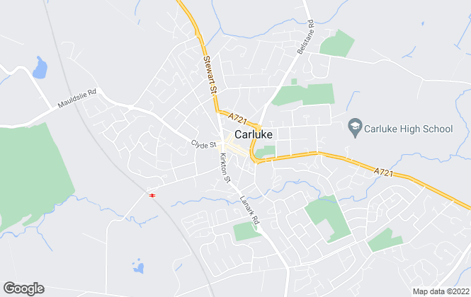 Map for Independent Estates, Carluke