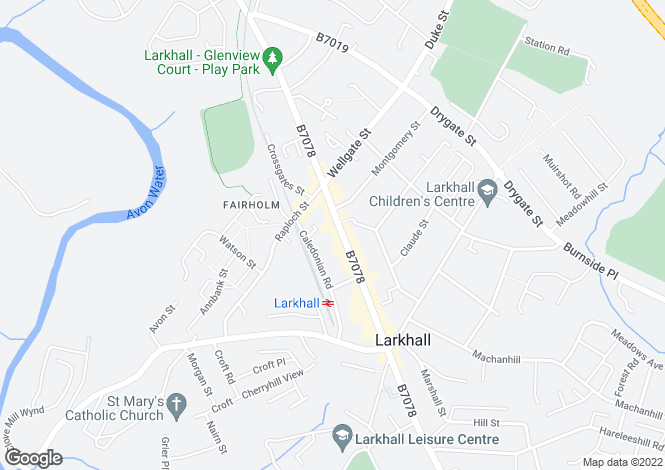 Map for 6-10, Union Street, Larkhall, South Lanarkshire, ML91DR