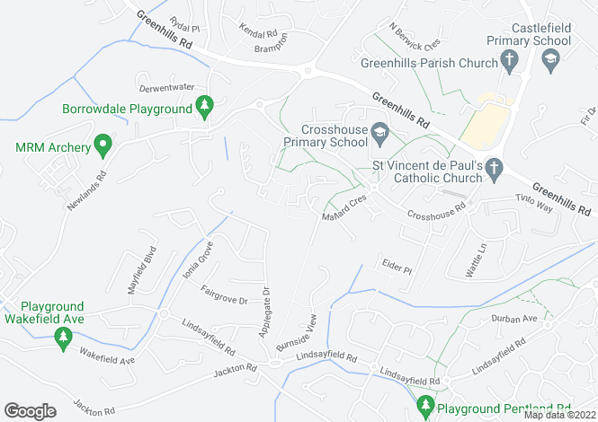 Map for Carsewell at Highfield Manor, Off Netherton Road,