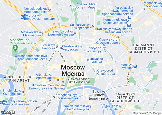 Map for Moscow Region, Moscow