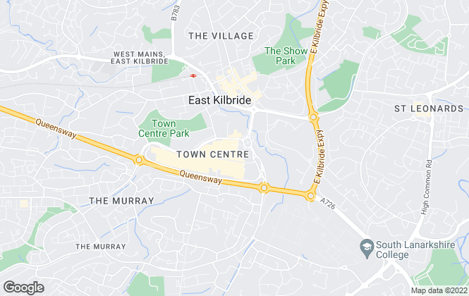 Map for Countrywide, East Kilbride