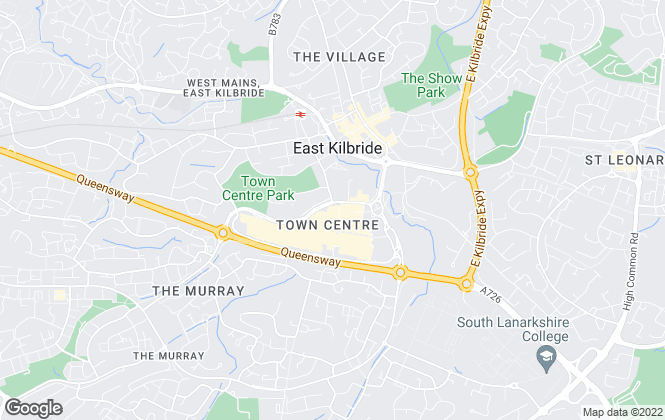 Map for Buchanan Burton Solicitors and Estate Agents, East Kilbride
